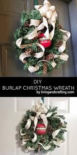 burlap christmas wreath diy burlap christmas wreath living and crafting