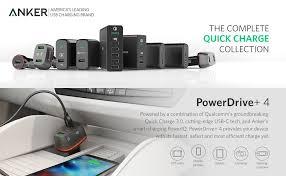 Anker Dual Port Car Charger Amazon Com Anker Quick Charge 3 0 U0026 Usb Type C 54w 4 Port Usb Car