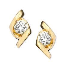 diamond stud earrings for women sirena women s earrings 14k gold diamond stud 1 3 ct t w