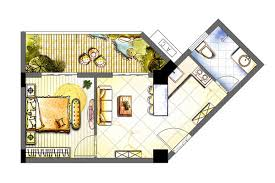 Color Floor Plan Rendered Floor Plan Watercolor Google Search Projects