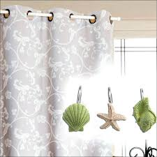 Seashell Curtains Bathroom Bathroom Wonderful Seashell Curtain Hooks Bubble Shower Curtain