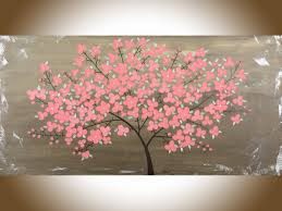 Home Decor Wall Paintings End Of The Summer Blossoms By Qiqigallery 48