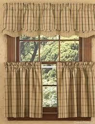 Park Design Valances Adamstown Sand Layered Curtain Valance Country Primitive Decor
