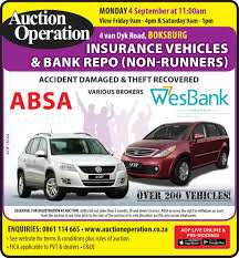 auction operation insurance vehicles boksburg