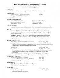 Sample Resume Objectives For College Students by Electrical Foreman Resume Samples Resume For Your Job Application