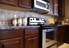 kitchen backsplash cherry cabinets kitchen backsplash ideas with cherry cabinet home design style