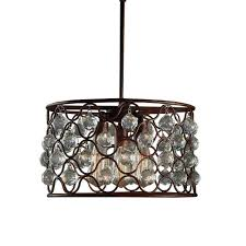 Indoor Chandeliers Edison Hattie Collection 3 Light Steel Indoor Chandelier