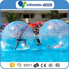 attractive human hamster walk on water balls