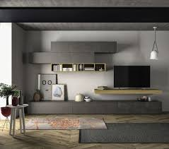 Wall Unit Contemporary Tv Wall Unit Wooden Lacquered Wood Modular