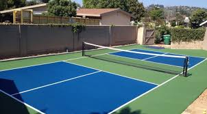 Backyard Tennis Court Cost Can Pickleball Be Played On A Tennis Court