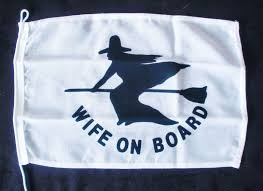 Scottish Pirate Flag Wife On Board Nautical Flag 30cm X 20cm