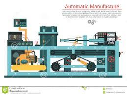 fläche rohr vector flache illustration der komplexen technikmaschine mit pumpe