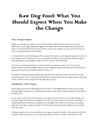 raw dog food what you should expect when you make the change