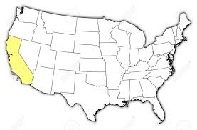california map in us political map of united states with the several states where