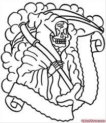outline grim reaper tattoo design for men tattoo viewer com