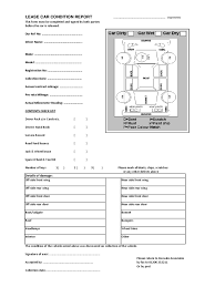 car report template exles vehicle condition report form 2 free templates in pdf word