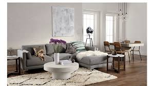 Contemporary Sectional With Chaise District 2 Piece Sectional Sofa Cb2