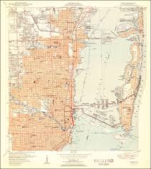 Fla Map Image Of The 1950 Miami Florida Without Woodland 7 5 Minute