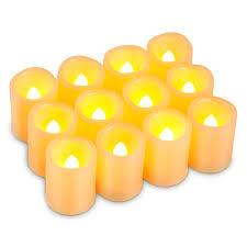 kohree timer votive flameless candles unscented
