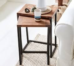 pottery barn nesting tables granger nesting side tables pottery barn