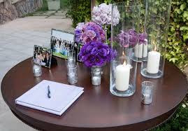 purple wedding guest book how to decorate the guest book table weddingelation