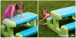 little kids picnic table little tikes picnic table makeover refashionably late
