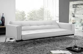 White Leather Tufted Sofa by Appealing Modern Sofa Bed Inspiring Decor Come With Black Leather
