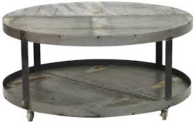 pleasant industrial coffee table on wheels in home decoration