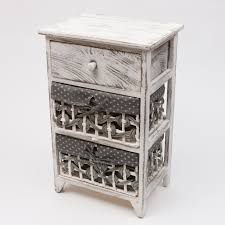 white shabby chic storage unit bathroom cabinet wicker baskets