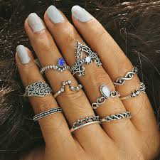 midi rings set feng 2017 finger rings set vintage silver color