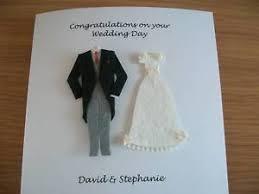 wedding card to from groom personalised handmade wedding card and groom ebay