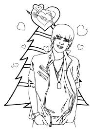 merry christmas justin bieber coloring netart