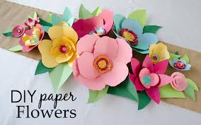 Paper Flower Diy Hand Cut Paper Flowers Project Nursery