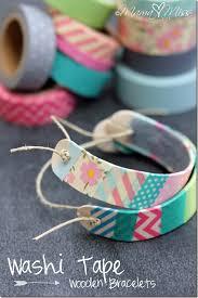 bracelet diy easy images Washi tape wooden bracelets jpg