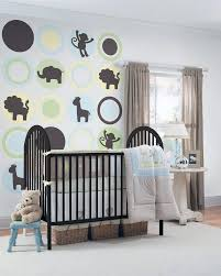 stickers muraux chambre bebe design interieur sticker mural chambre bebe theme jungle lit boite