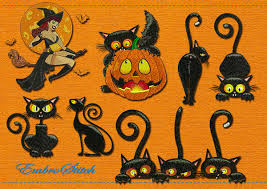 halloween cat embroidery designs pack 2 collection of 10 30