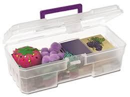 Plastic Tool Storage Containers - akro mils 09912 clpur 12 inch plastic art supply craft storage