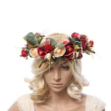 flower headpiece women flower crown flower garland headpiece for wedding festivals