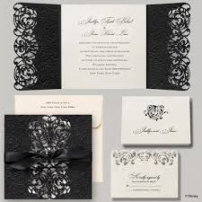 Fairytale Wedding Invitations Elegant Ribbon Tied Wedding Invitation Disney Fairytale Wedding