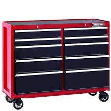 10 Drawer Cabinet Craftsman 114837 52 Inch 10 Drawer Heavy Duty Rolling Cart