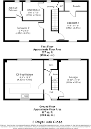 Jack And Jill Bathroom Floor Plans 3 Bedroom Terraced House For Sale In Royal Oak Close Lichfield Ws13