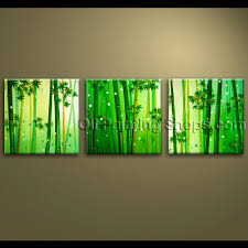 Oversized Wall Art by Large Wall Art Oil Painting Canvas Bamboo Feng Shui Artworks Hand