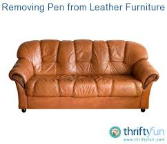 Pen On Leather Sofa Removing Pen From Leather Furniture Thriftyfun