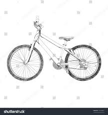 old bicycle sketch illustration hand drawn stock vector 132723581