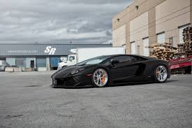 all black lamborghini matte black lamborghini aventador lowered on pur wheels gtspirit