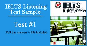 ielts for academic purpose listening test 1 full keys pdf