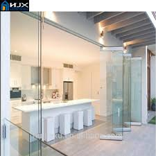 Tri Fold Doors Interior Frameless Folding Glass Doors Frameless Folding Glass Doors