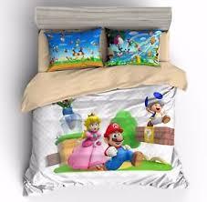 Mario Bros Bed Set Mario Princess Bedding Duvet Cover Sets Quilt
