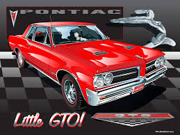 1964 pontiac gto with 1934 flying indian maiden ornament in