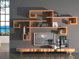 Wooden Wall Shelves Wooden Wall Designs For Lcd Tv Components Tv Wall Shelves Wood